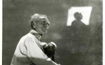 Portrait of Helmar Lerski, world - renowned photographer, Eretz Israel, 1930s.